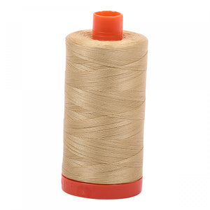 AURIFIL QUILT THREAD - 50 WT - 1422 yds #2915, Very Light Brass