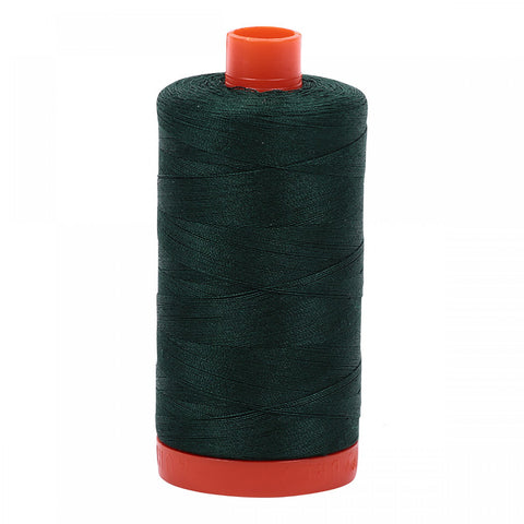 AURIFIL QUILT THREAD - 50 WT - 1422 yds #4026, Forest Green