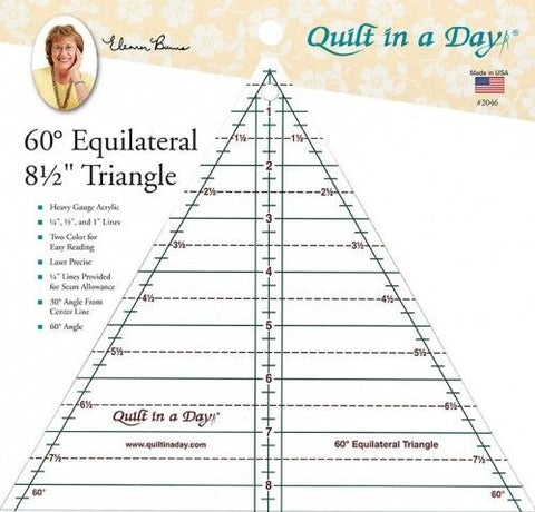 60 Degree Equilateral Triangle ruler, Quilt in a Day #2046