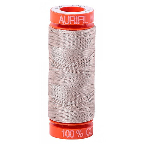 AURIFIL QUILT THREAD - 50 WT - 220 yds Small #6711, Pewter
