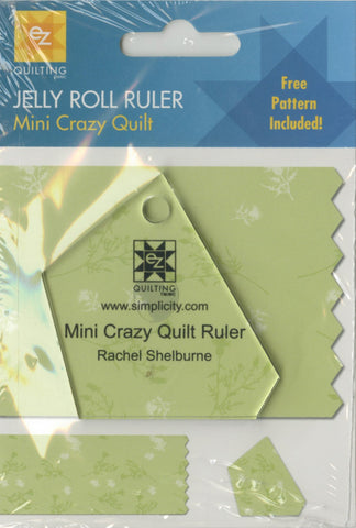 Mini Crazy Quilt Jelly Roll Ruler,  EZ Quilting 882225