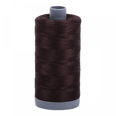 AURIFIL QUILT THREAD - 40 WT - 820 yds #1130 Dark Bark