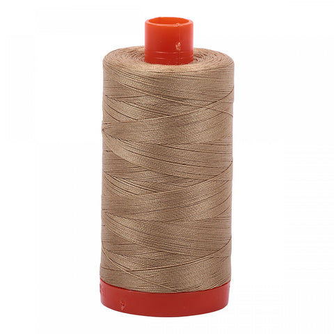 AURIFIL QUILT THREAD - 50 WT - 1422 yds #5010 Blonde Beige