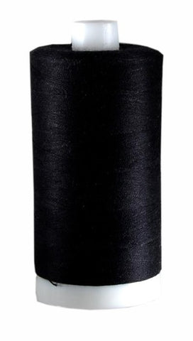 AURIFIL Cotton Bobbin THREAD - 60 WT - 1531 yds BLACK
