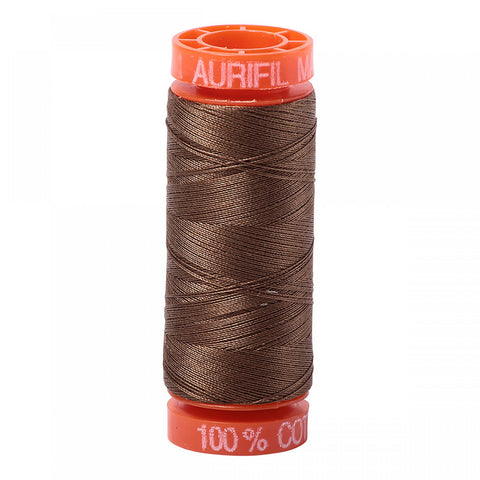 AURIFIL QUILT THREAD - 50 WT - 220 yds Small #1318, Dark Sandstone