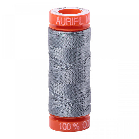 AURIFIL QUILT THREAD - 50 WT - 220 yds Small #2610, Light Blue Grey