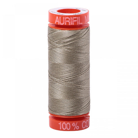 AURIFIL QUILT THREAD - 50 WT - 220 yds Small #2900, Light Kahki Green
