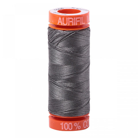 AURIFIL QUILT THREAD - 50 WT - 220 yds Small #5004, Grey Smoke