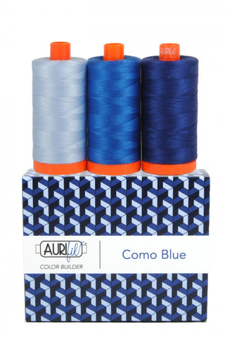 AURIFIL Como Blue Thread Collection 50wt 3 Large Spools AC50CP3-006