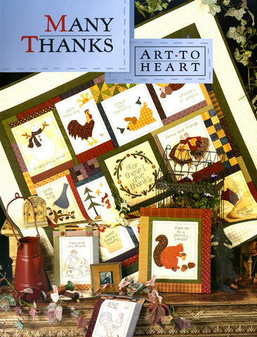 Many Thanks Quilt Book by Art to Heart #517B by Nancy Halvorsen