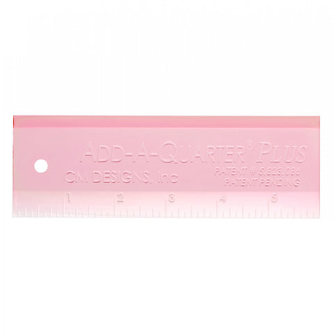 "CM Designs Ruler Pink Add-A-Quarter PLUS 6"", Great for Paper Piecing!!!"