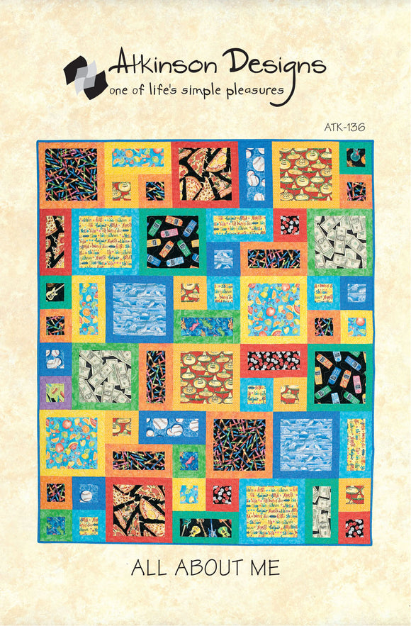 All About Me Quilt Pattern, Atkinson Designs ATK-136