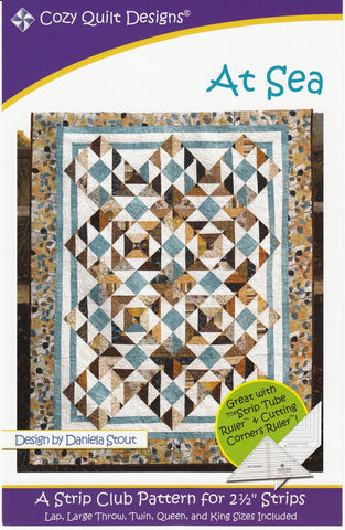 "At Sea: A Strip Pattern for 2 1/2"" Strips by Cozy Quilt Designs # CQD01086"