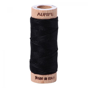 AURIFIL Embroidery Floss - 100% Cotton - 18 yds #2692 Black