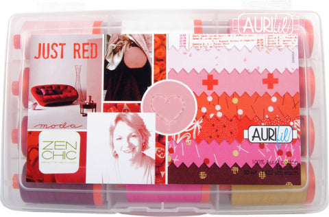 AURIFIL Just Red - 50 WT -12 spools cotton thread BH50JR12
