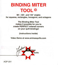Binding Miter Tool #AQP-201 w/ 90°, 120°, and 135° degree angles
