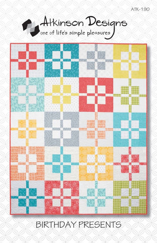 BIRTHDAY PRESENTS Quilt Pattern, Atkinson Designs ATK-190