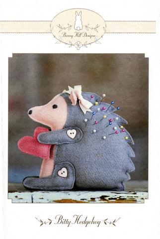 Bitty Hedgehog Pincushion Pattern by Bunny Hill Designs