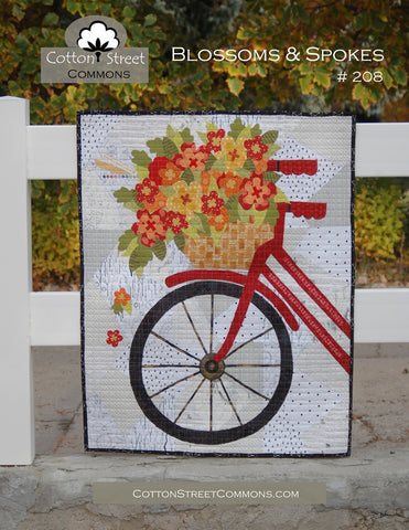 Blossoms & Spokes Quilt Pattern, From Cotton Street Commons, #208