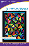 "Butterfly Blooms, a 2 1/2"" Strip Pattern from Cozy Quilt Designs # SSRBB"