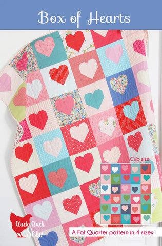 Box of Hearts Quilt Pattern, Cluck Cluck Sew CCS #190