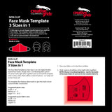 Face Mask Template, 3 Sizes in 1, Non-Slip from Creative Grids, #CGRFACE