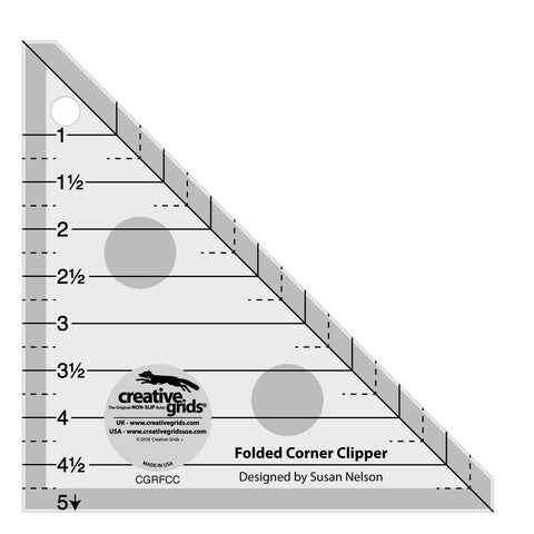 Folded Corner Clipper Ruler, Non-Slip Quilt Ruler from Creative Grids, #CGRFCC