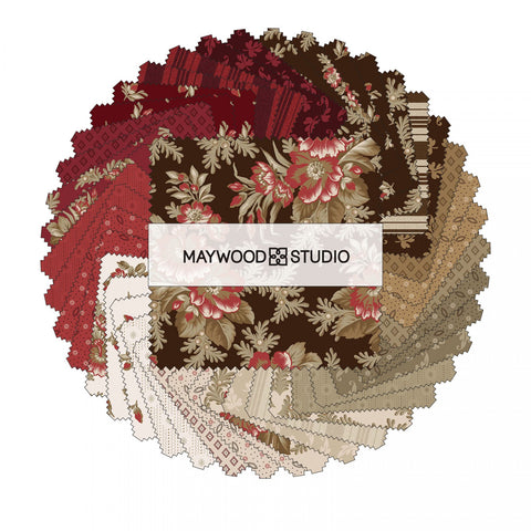 Ruby, Charm Squares/Pack, 42-pieces Maywood Studio 100% Cotton CP-MASRUB