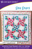 "Sea Stars, a 2 1/2"" Strip Pattern from Cozy Quilt Designs # CQD01189"