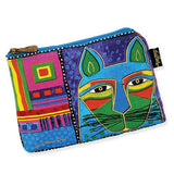 Laurel Burch Whiskered Cats Cosmetic Bag, Sun N Sand LB5321PP