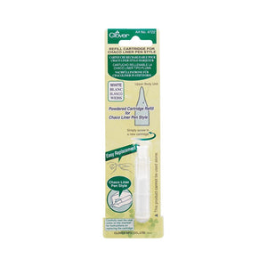 Chaco Liner Pen Chalk REFILL, White, by Clover # 4722CV