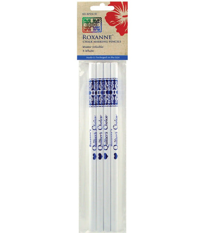 Quilter's Choice Chalk Marking Pencils, 4 White, Roxanne RX-BPEN-W