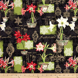 Christmas in Bloom Fat Quarter Crystals, Wilmington, 100% Cotton Q540-416-540