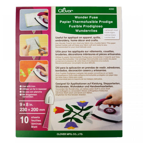"Wonder Fuse, Fusible Web by Clover, 10 Sheets, 8 x 9"", #4090"