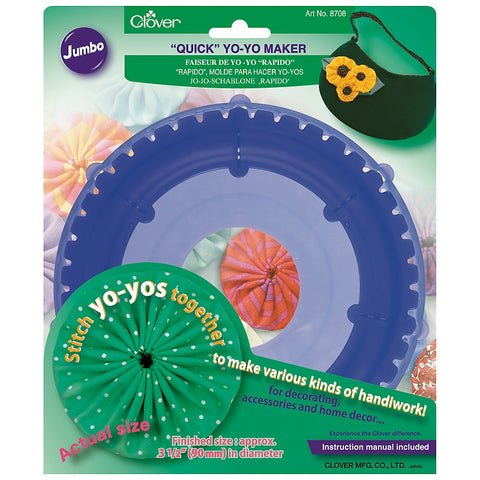 "Clover ""Quick"" Yo-Yo Maker (Round Jumbo) #8708 for an Easy Yo-Yo Quilt"