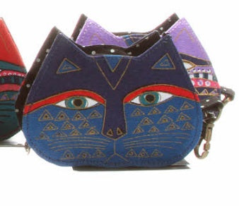 Laurel Burch Feline Cat Face Coin Purse, Sun N Sand LB4300PP