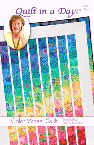 Color Wheel Quilt pattern, Eleanor Burns, Quilt in a Day, 1242 EASY