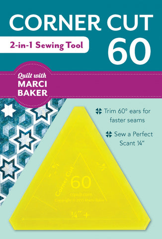 Corner Cut 60, two Quilt tools in one, by Marci Baker