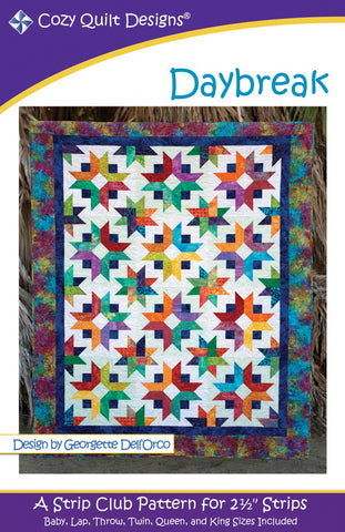 "Daybreak, a 2 1/2"" Strip Pattern from Cozy Quilt Designs # CQD01094"