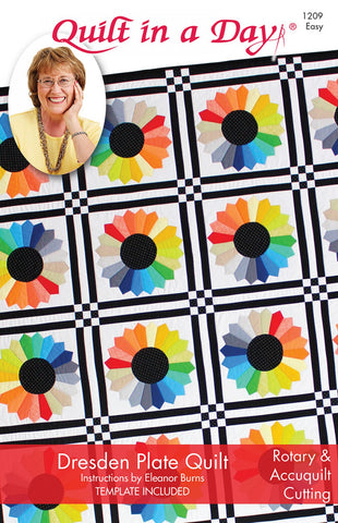 Dresden Plate Quilt Pattern by Quilt in a Day, Eleanor Burns 1209 Easy