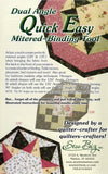 Dual Angle Quick Easy Mitered Binding Tool from Sew Biz Inc.