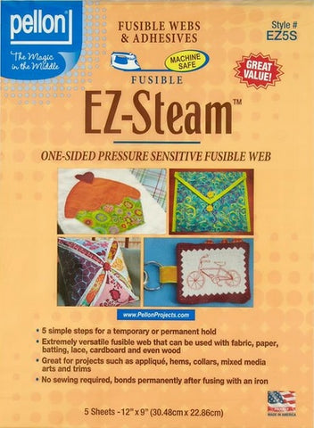"EZ-Steam II, Two Sided Fusible Web for Applique, 5 Sheets, 9 x 12"", by Pellon"