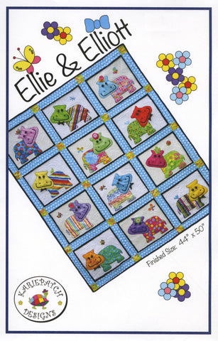 "Ellie & Elliott Quilt Pattern, KariePatch Designs 44"" x 50"""