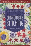 Embroidery Stitching Handy Pocket Guide, Softcover by C&T Publishing 30+ pages