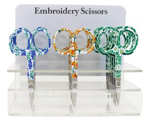 "Assorted Floral Embroidery Scissors, 3.75"" blade  #6340-30"