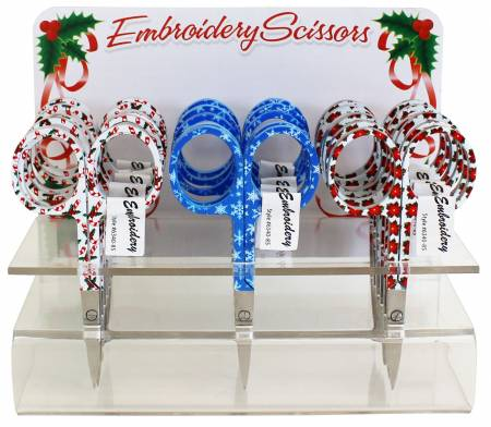 Assorted Holiday Embroidery Scissors #6340-85, Sewing & Quilting Thread, 3.75