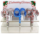 Assorted Holiday Embroidery Scissors #6340-85, Sewing & Quilting Thread, 3.75""