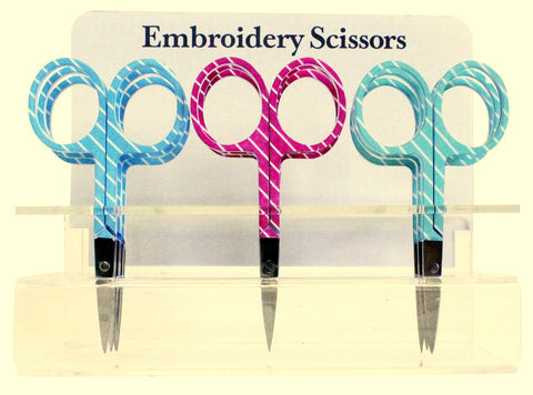 "Assorted Stripe Embroidery Scissors, 3.75"" blade  #6340-21"