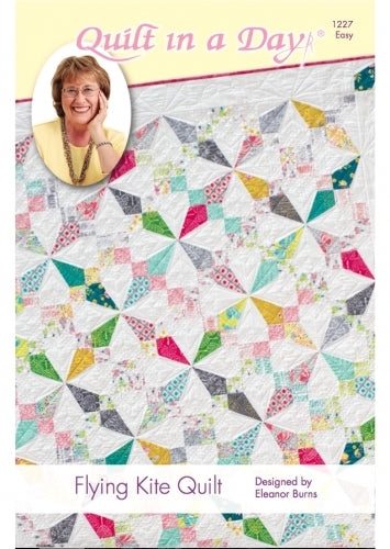 Flying Kite Quilt pattern, Quilt in a Day, Eleanor Burns, Easy 1227