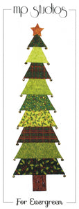 "FOR EVERGREEN 16 X 39"" Quilt Pattern, Tree Table Runner or Wallhanging"